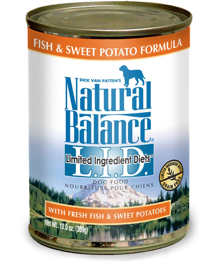 Natural Balance Pet Foods 723633001564 13 oz Limited Ingredient Diets Fish & Sweet Potato Formula Canned Dog Food - Case of 12