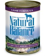 Natural Balance Pet Foods 723633001571 13 oz Ultra Premium Lamb Formula Canned Dog Food - Case of 12