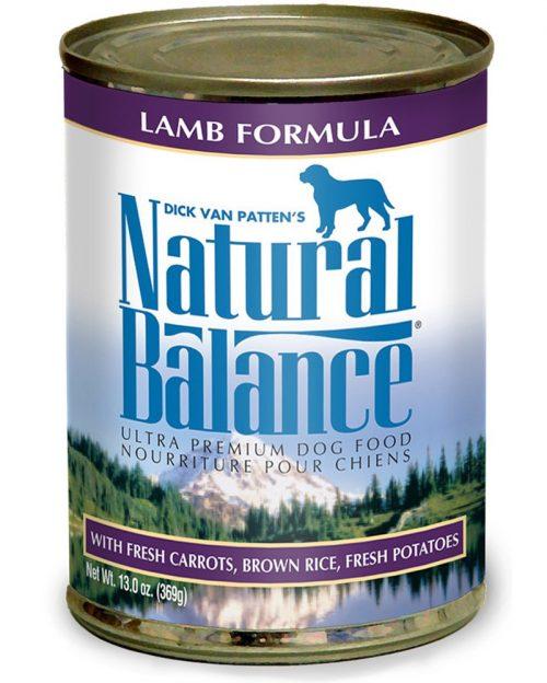 Natural Balance Pet Foods 723633001571 13 oz Ultra Premium Lamb Formula Canned Dog Food - Case of 12