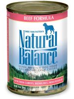 Natural Balance Pet Foods 723633001588 13 oz Ultra Premium Beef Formula Canned Dog Food - Case of 12