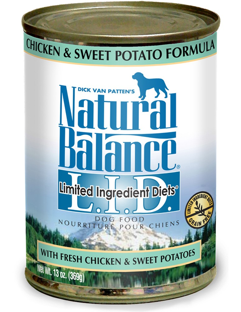 Natural Balance Pet Foods 723633001700 13 oz Limited Ingredient Diets Chicken & Sweet Potato Formula Canned Dog Food - Case of 12