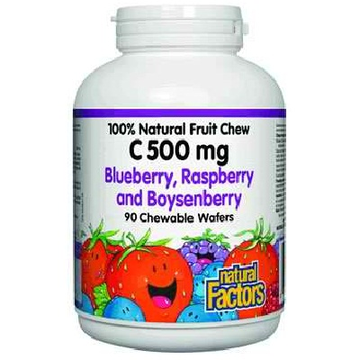 Natural Factors BG16174 Natural Factors Berry Chew Vit C - 1x90TAB