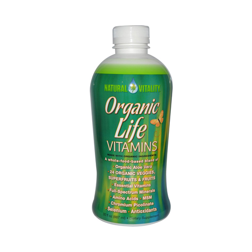 Natural Vitality 0393728 Liquid Organic Life Vitamins 30 fl oz