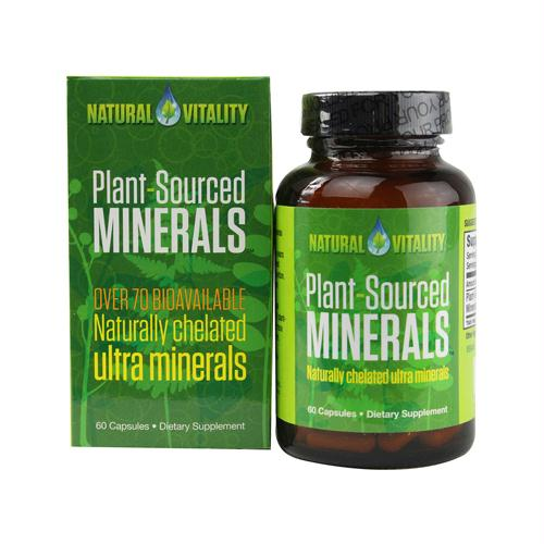 Natural Vitality Plant Sourced Minerals - 60 Vegan Capsules - 1261759
