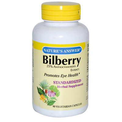 NatureS Answer Bilberry Extract - 90 Vegetarian Capsules