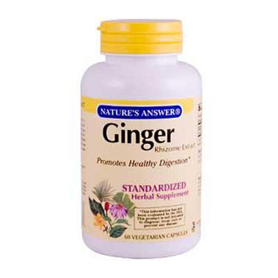 NatureS Answer Ginger Rhizome - 60 Vegetarian Capsules