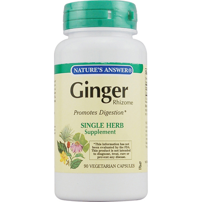 NatureS Answer Ginger Rhizome - 90 Vegetarian Capsules - -Pack of 1