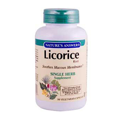 NatureS Answer Licorice Root - 90 Vegetarian Capsules