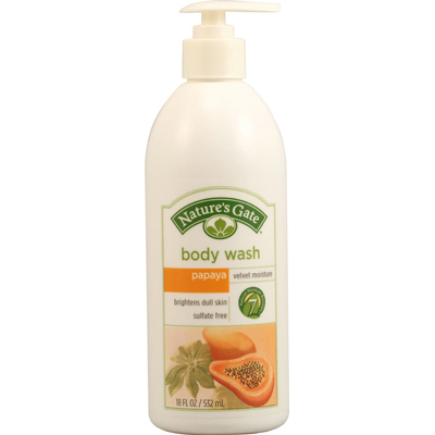 NatureS Gate Body Wash Velvet Moisture Papaya - 18 Fl Oz
