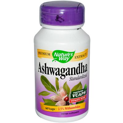 NatureS Way Ashwagandha Standardized - 60 Vegetarian Capsules