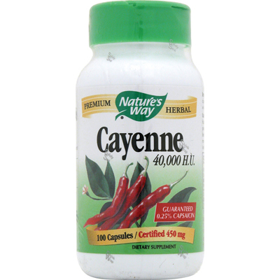 NatureS Way Cayenne And Pepper - 450 Mg - 100 Capsules