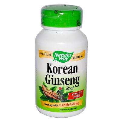 NatureS Way Korean Ginseng Root - 100 Capsules - -Pack of 1