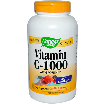 NatureS Way Vitamin C With Rose Hips - 1000 Mg - 250 Capsules