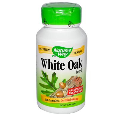 NatureS Way White Oak Bark - 100 Capsules