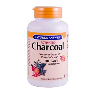 Natures Answer 0124917 Activated Charcoal - 90 Vegetarian Capsules