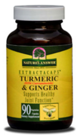 Natures Answer 1151083 ExtractaCaps Turmeric & Ginger 90 Veggie Caps - 90 Lcaps