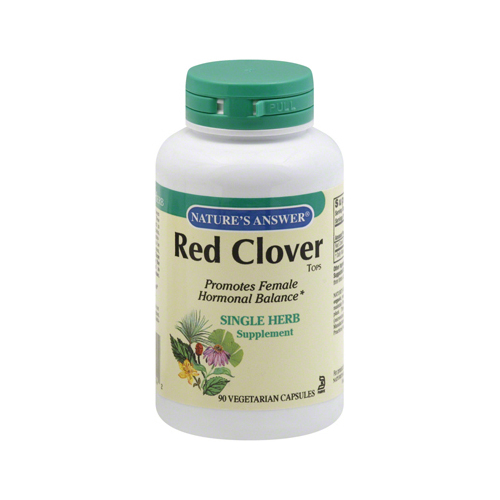 Natures Answer 124115 Natures Answer Red Clover Tops - 90 caps