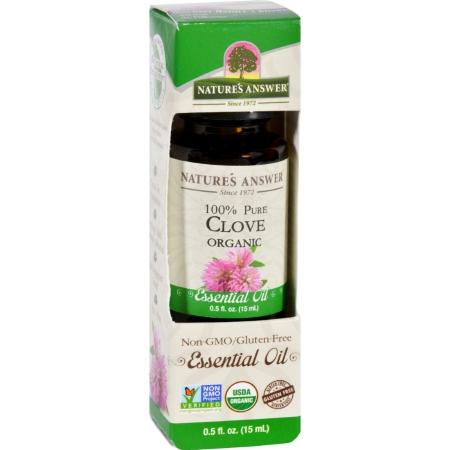 Natures Answer 1619949 0.5 oz Gluten Free Organic Essential Oil Clove