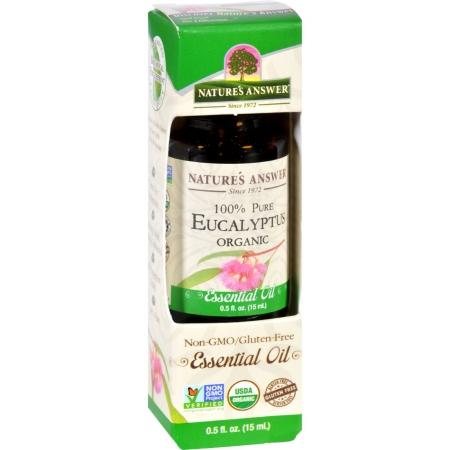 Natures Answer 1619956 0.5 oz Gluten Free Organic Essential Oil Eucalyptus
