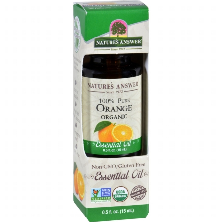 Natures Answer 1620129 0.5 oz Gluten Free Organic Essential Oil Orange