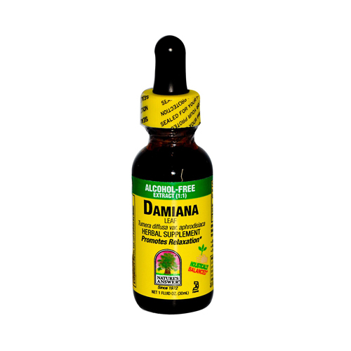 Natures Answer 302521 Natures Answer Damiana Leaf Alcohol Free - 1 fl oz