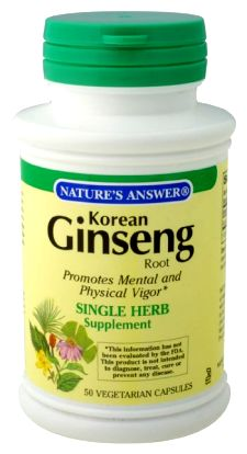Natures Answer Ginseng Root Korean 50 vegetarian capsules 215709