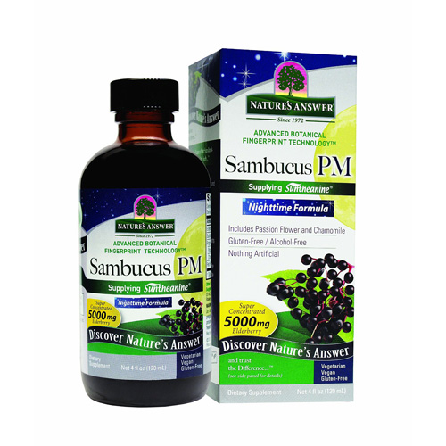 Natures Answer Sambucus - Pm Nighttime - 4 Ounce