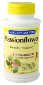 Natures Answer Standardized Extract Supplement Passionflower 60 vegetarian capsules 215686