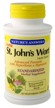 Natures Answer Standardized Extract Supplement St. Johns Wort Herb Super 60 vegetarian capsules 215690