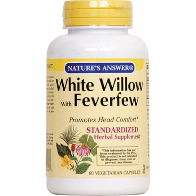 Natures Answer White Willow with Feverfew - 60 vcaps