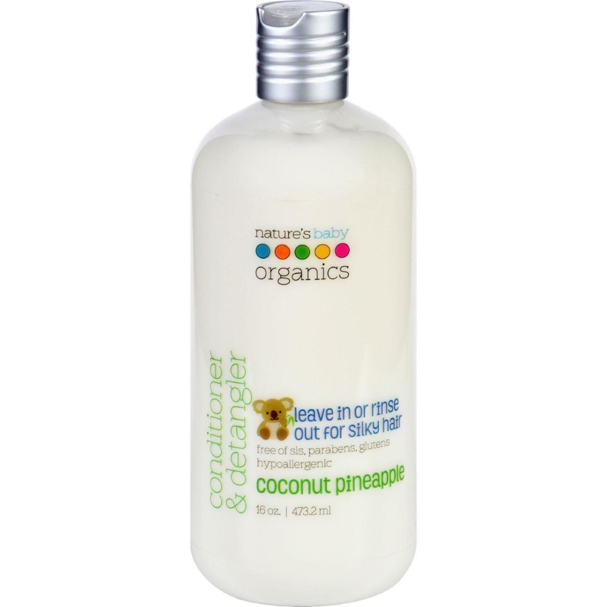 Natures Baby Organics ECW1624378 16 oz Conditioner & Detangler Coconut Pineapple