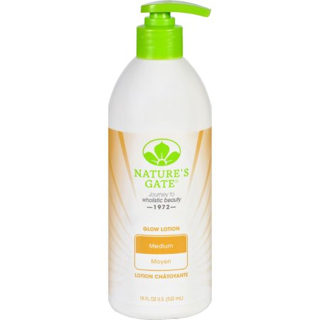 Natures Gate 1728476 18 oz Body Lotion Glow - Medium