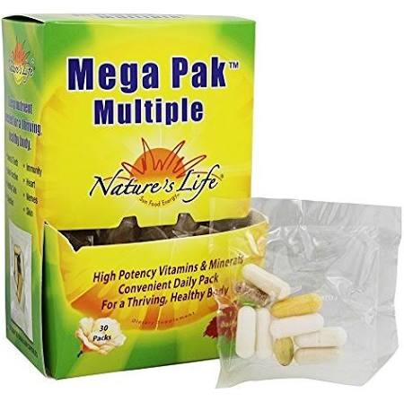 Natures Life 100422 Mega Pak Multiple 30 Packet - 3 per Case