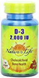 Natures Life 112093 D3 2000 IU Natural Cholecalcifero Softgels