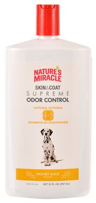 Natures Miracle NM-6095 32 oz. Dog Oatmea Pet Shampoo