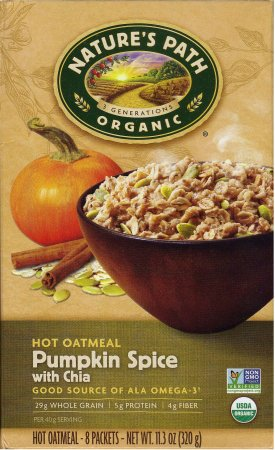 Natures Path 291662 11.3 oz Hot Pumpkin Spice Chia Cereal Pack of 6
