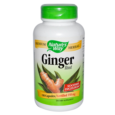 Natures Way 0205229 Ginger Root - 180 Capsules