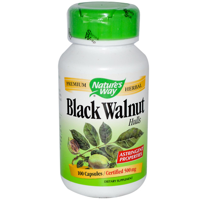 Natures Way 0371807 Black Walnut Hulls - 100 Capsules