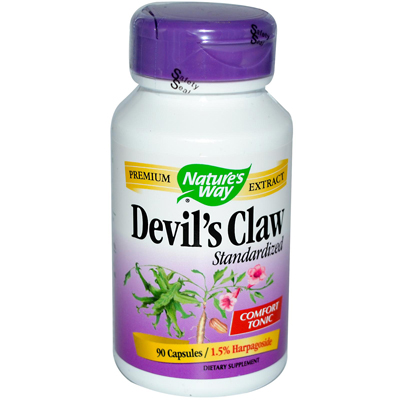 Natures Way 0591446 Devils Claw Standardized - 90 Capsules