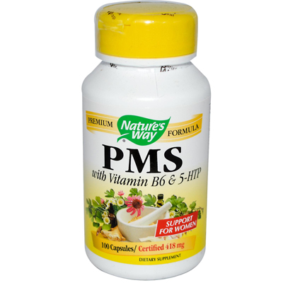 Natures Way 0650986 PMS with Vitamin B6 and 5-HTP - 100 Capsules