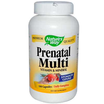 Natures Way 0817049 Prenatal Multi - 180 Capsules