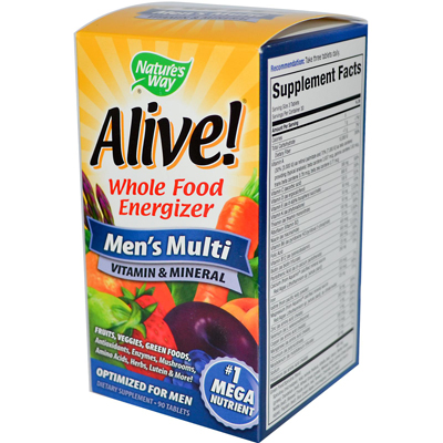 Natures Way 0957217 Alive Mens Multi - 90 Tablets
