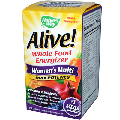 Natures Way 0957282 Alive Womens Multi - 90 Tablets