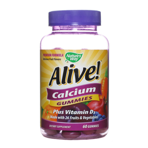 Natures Way 1554815 Alive Calcium Gummy Count 60 Count