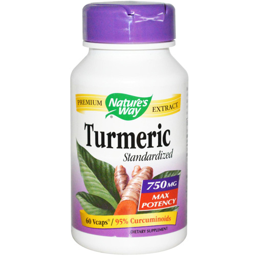Natures Way 1554997 750 mg Turmeric Maximum Potency Vegetarian Capsules 60 Count
