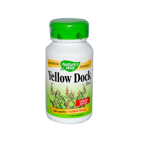 Natures Way 290908 Natures Way Yellow Dock Root - 500 mg - 100 Capsules