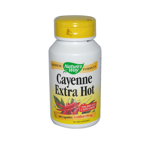 Natures Way 394445 Natures Way Cayenne Extra Hot - 100 Capsules