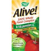 Natures Way Alive! Organic Vitamin C 120 Vcaps