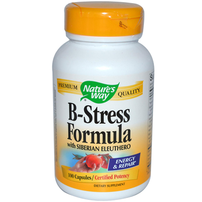 Natures Way B-Stress Formula with Siberian Eleuthero - 100 Capsules