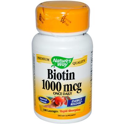 Natures Way Biotin - 1000 mcg - 100 Lozenges